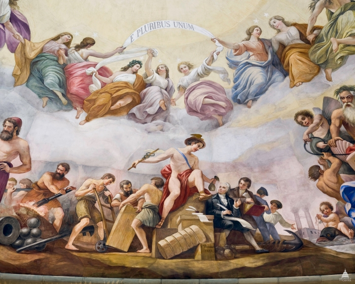 4. Apotheosis of Washington, Commerce