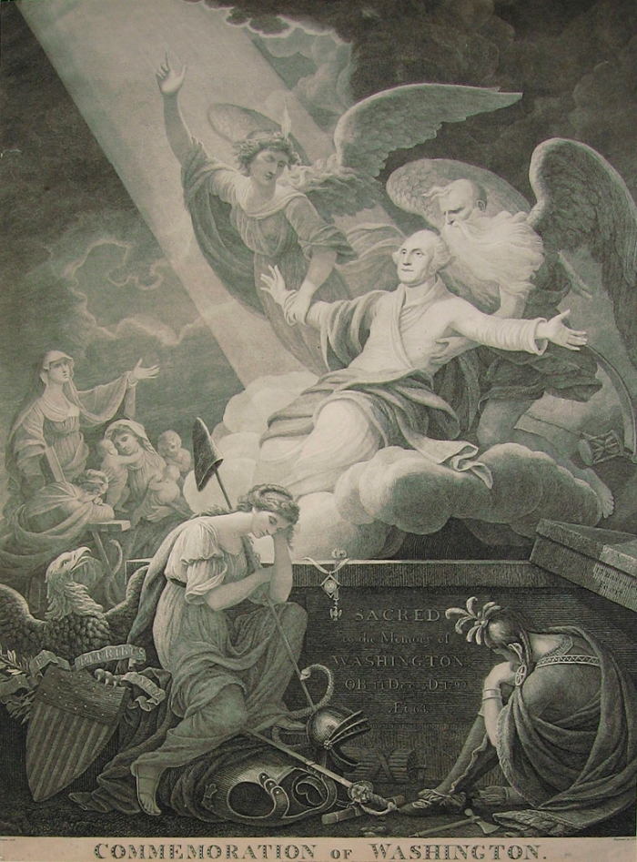 John James Barralet. The Apotheosis of Washington or The Commemoration of Washington (1802-1816)