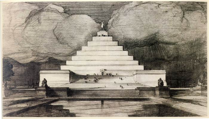 Lincoln Memorial original. Henry Bacon